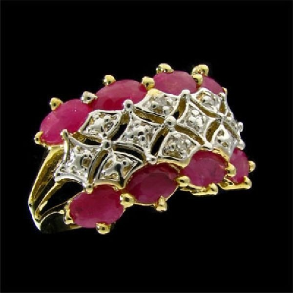APP: $2.6k 14 kt. Gold, 1.60CT Ruby and Diamond Ring