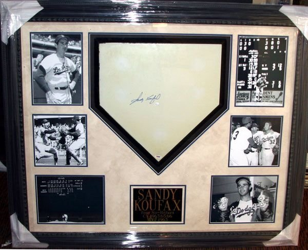 Sandy Koufax Signed Home Plate - Authentic Signature