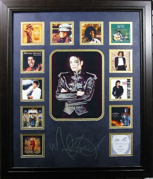 Michael Jackson CD Cover Collection -Engraved Signature