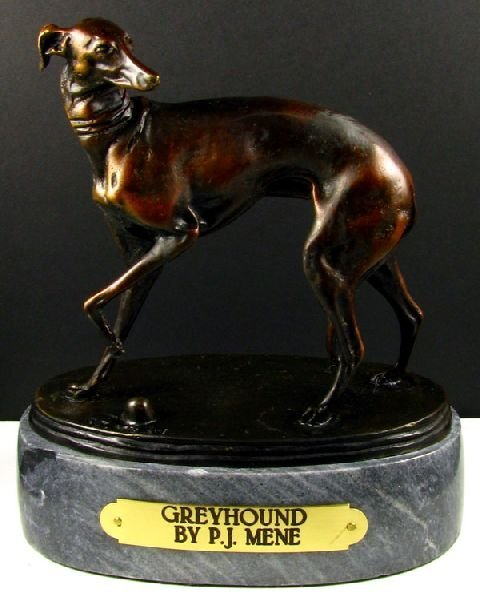 Pierre Jules Mene Bronze Reproduction - Greyhound