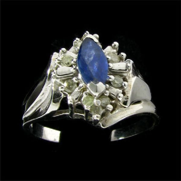 14 kt. White Gold 0.38CT Sapphire & Diamond Ring