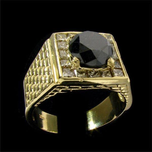 APP:$13.5k 14 kt. Gold, 4.13CT Rare Black Diamond Ring