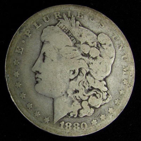1880 U.S. Morgan Silver Dollar Coin - Investment