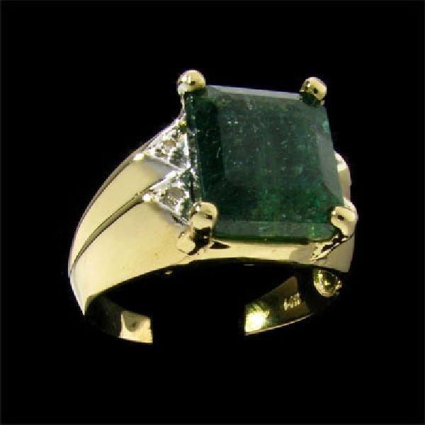 APP: 3.5k 14 kt. Gold, 7.00CT Tourmaline & Diamond Ring
