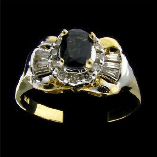 APP: $1k 14 kt. Gold, 0.47CT Sapphire & Diamond Ring