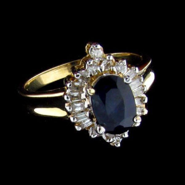 APP: $1.7k 14 kt. Gold, 1.02CT Sapphire & Diamond Ring