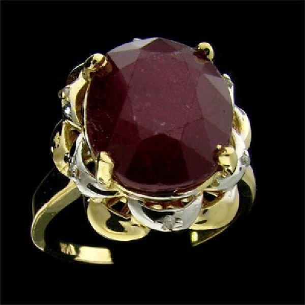 APP: $6.6k 14 kt. Gold, 9.72CT Ruby & Diamond Ring