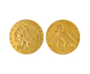 1912 $2.50 U.S. Indian Head Gold Coin- Great