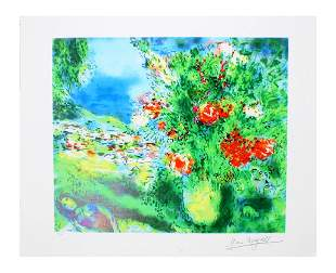 MARC CHAGALL Paysage Print, 32 of 500