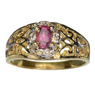 APP: 1k 14KT. Gold, 0.40CT Oval Cut Ruby Ring