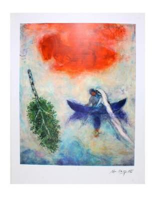 MARC CHAGALL La Barque Print, 44 of 500