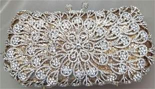 *Rare Exquisite Swarovski Crystal Element Handbag by