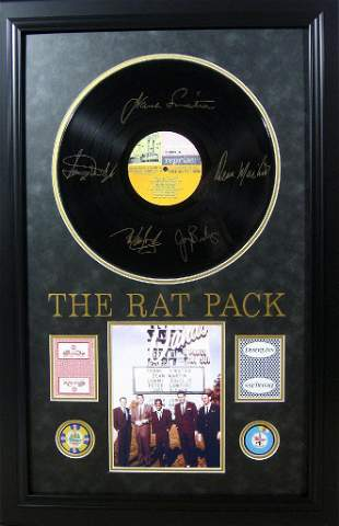 *Rare The Rat Pack Vinyl Album with Chips and Cards