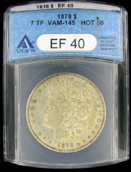 1878 U.S. Morgan Silver Dollar Coin - Investment