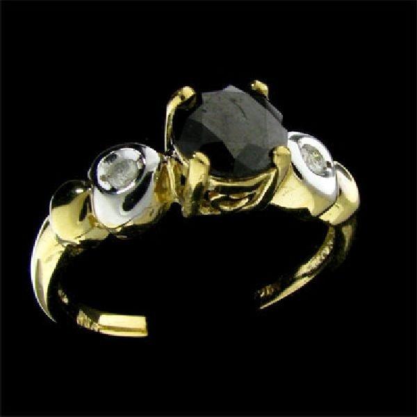 14 kt. Gold 1.13CT Black Diamond Ring