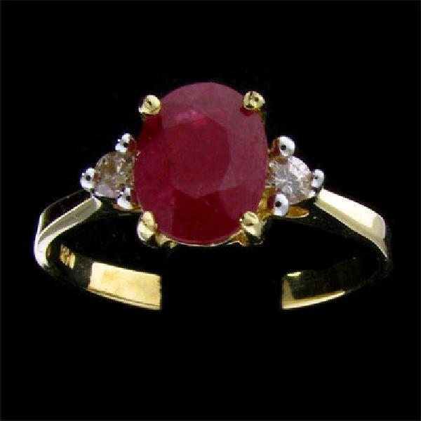 APP:$3k 14 kt. Gold 1.64CT Ruby & Diamond Ring