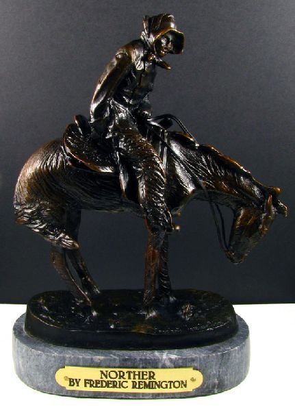 Frederic Remington Bronze Reproduction - Norther
