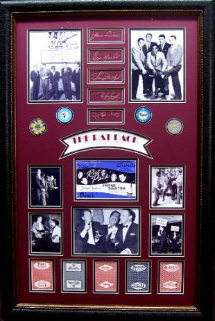 *Rare The Rat Pack Chips and Cards Museum Framed