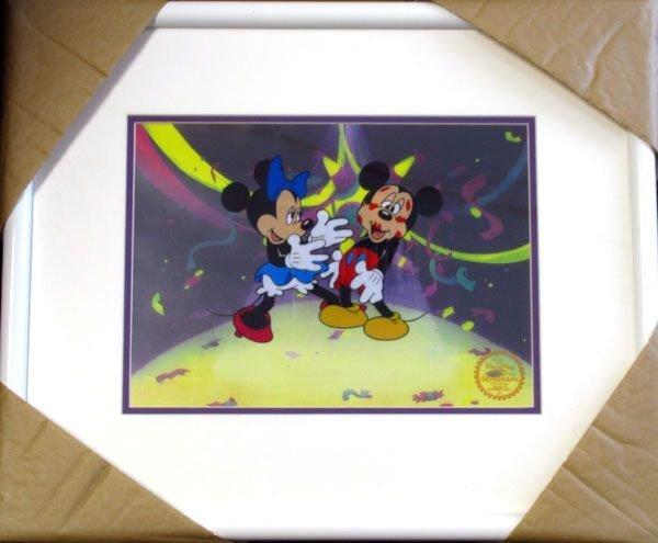 Limited Ed. Walt Disney Mickey & Minnie Mouse Serigraph