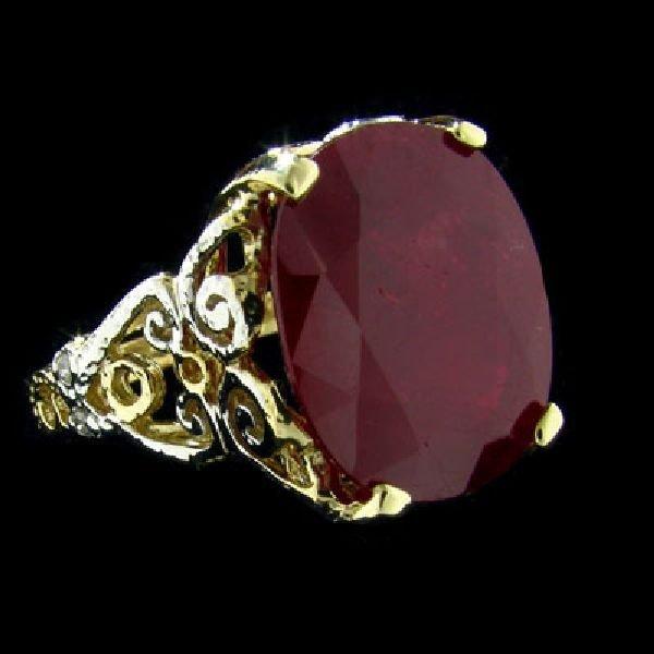 APP:$13.6k 14 kt. Gold, 11.30CT Ruby & Diamond Ring