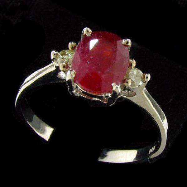 14 kt. White Gold, Ruby & Diamond Ring
