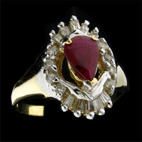 APP:$2.8k 14 kt. Gold, 0.79CT Ruby & Diamond Ring