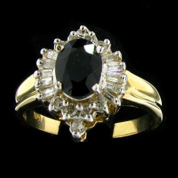 APP:$1.7k 14 kt. Gold, 0.91CT Sapphire & Diamond Ring