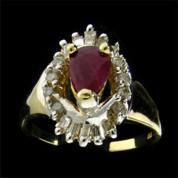APP:$3.1k 14 kt. Gold, 0.93CT Ruby & Diamond Ring