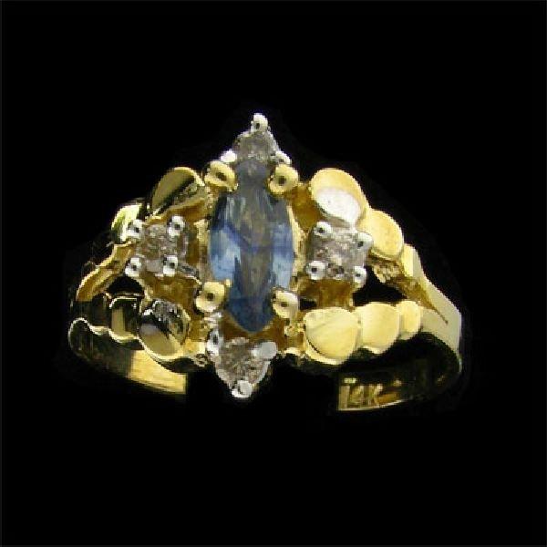 14 kt. Gold, 0.40CT Tanzanite & Diamond Ring