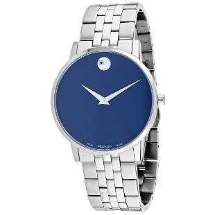 Movado Men's Museum Round Stainless Steel Case Blue