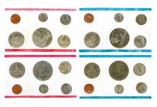 Rare US 1975 Uncirculated Mint Coins Set Great