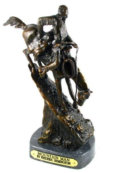 Frederic Remington Bronze Reproduction - Mountain Man