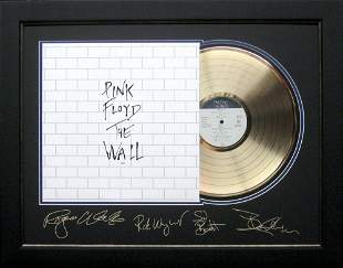 *Rare Pink Floyd The Wall Album Cover and Gold Record