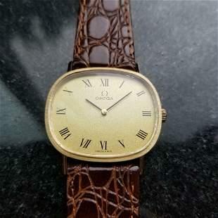 *OMEGA Hand-Wind Dress Watch 14k Gold c.1970 Swiss