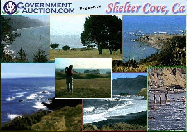 GOV: CA LAND, SHELTER COVE -COASTAL RESORT- B&A $377/mo