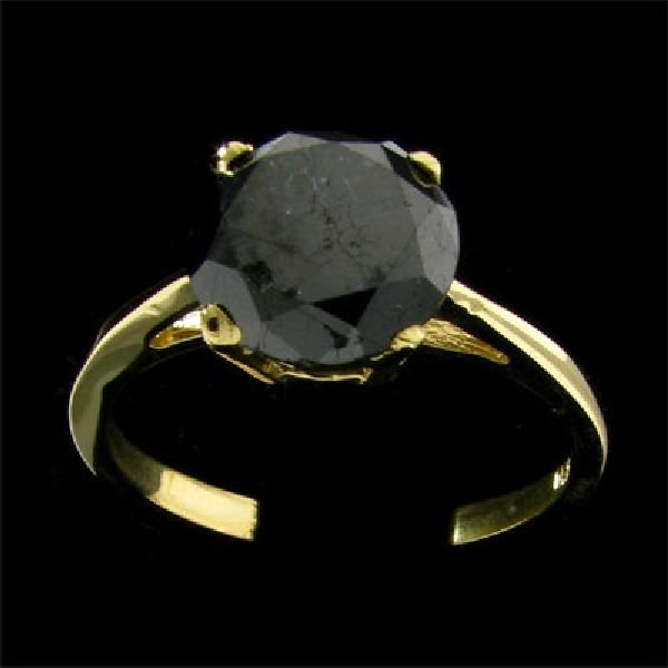 APP:$3.7k 14kt. Y/W Gold 2.33CT Rare Black Diamond Ring