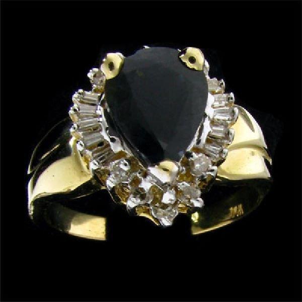 APP: $2.8k 14 kt. Gold, 2.05CT Sapphire & Diamond Ring