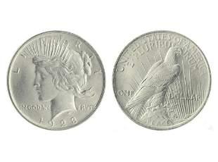 Very Rare 1923 Brilliant Uncirculated  Peace Silver