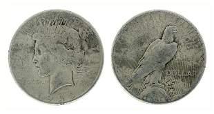 Rare 1923-S U.S. Peace Silver Dollar Coin - Great