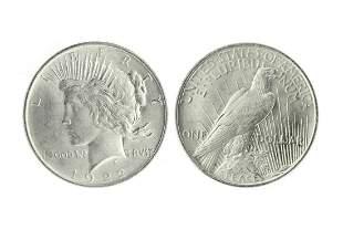 Very Rare 1922 Brilliant Uncirculated  Peace Silver