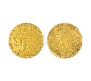 1909 $2.50 U.S. Indian Head Gold Coin- Great