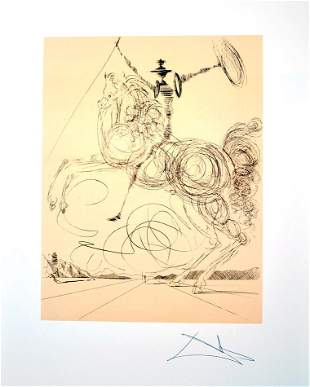 SALVADOR DALI Don Quioxte in Sepia Print, 257 of 500