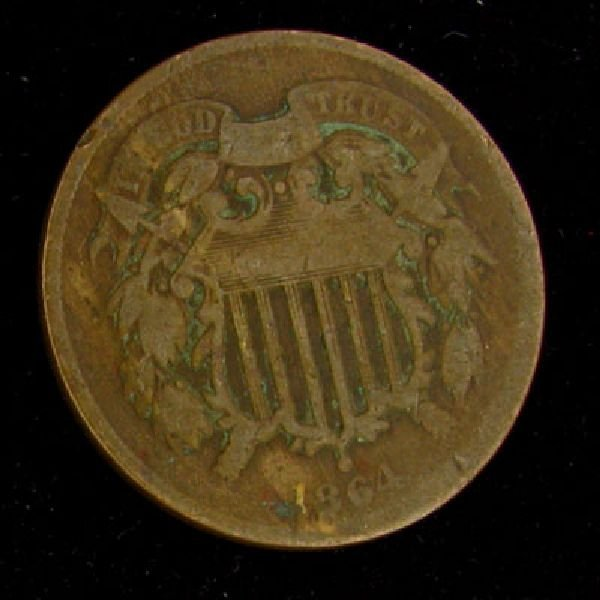 1864 Two Cent Coin - Investment