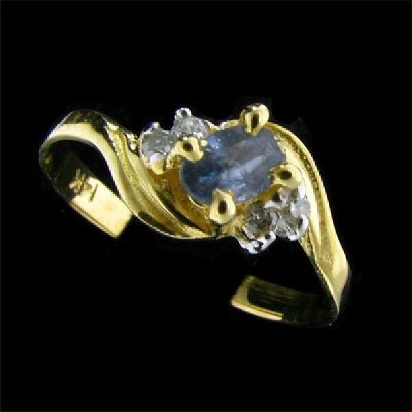 14 kt. Gold, 0.34CT Sapphire & Diamond Ring