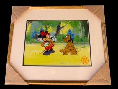 Limited Edition Walt Disney Mickey & Pluto Serigraph