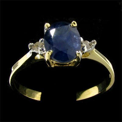 14 kt. Gold, Sapphire and Diamond Ring