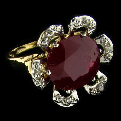 APP: $9.6k 14 kt. Gold, 7.76CT Ruby and Diamond Ring