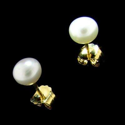 14 kt. Gold, Freshwater Pearl Earrings