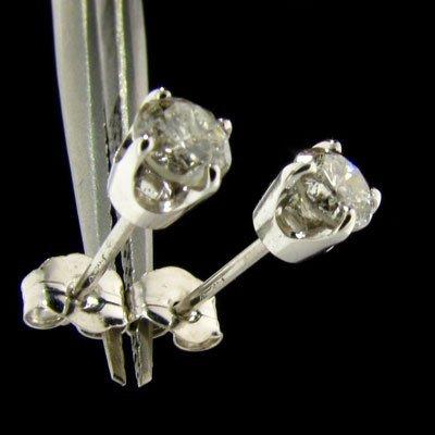 APP: $1.9k 14 kt. White Gold, 0.61CT Diamond Earrings
