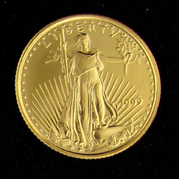 13: 1999 1/10 Eagle Gold Coin-Investment Potential